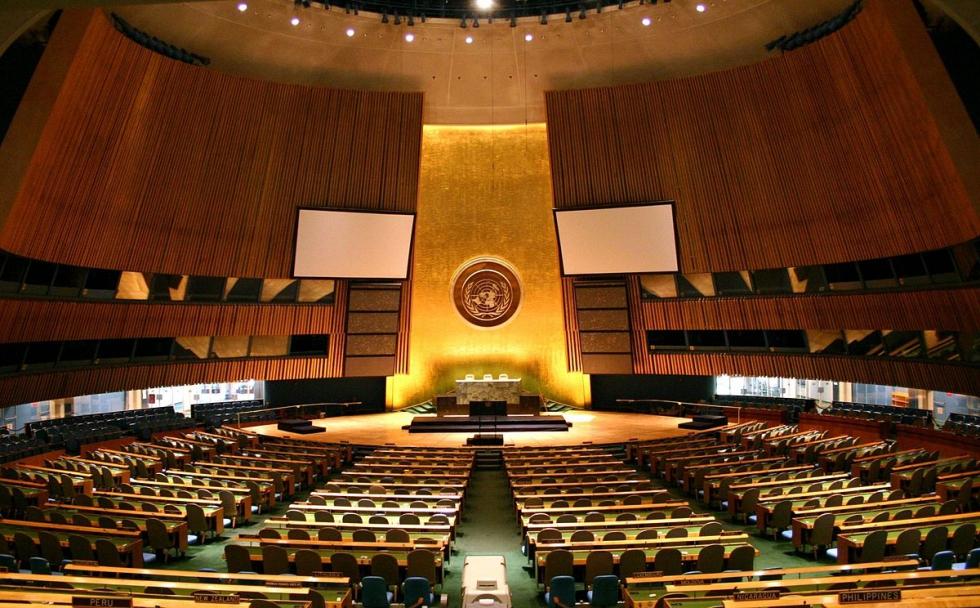 صورة منظمة تدعو مجلس الأمن لسحب عضوية الأسد من الجمعية العامة