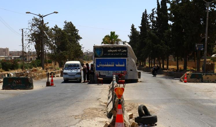 """صورة تحرير الشام تعتقل أشخاص بتهمة الانتماء لـ""""داعش"""""""