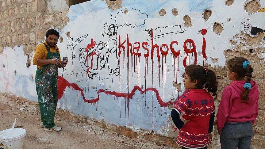 """صورة إدلب تتعاطف مع """"خاشقجي"""" على طريقتها"""