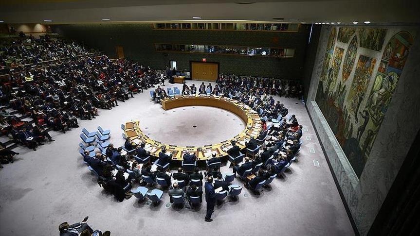 صورة جلسة طارئة لمجلس الأمن حول سوريا