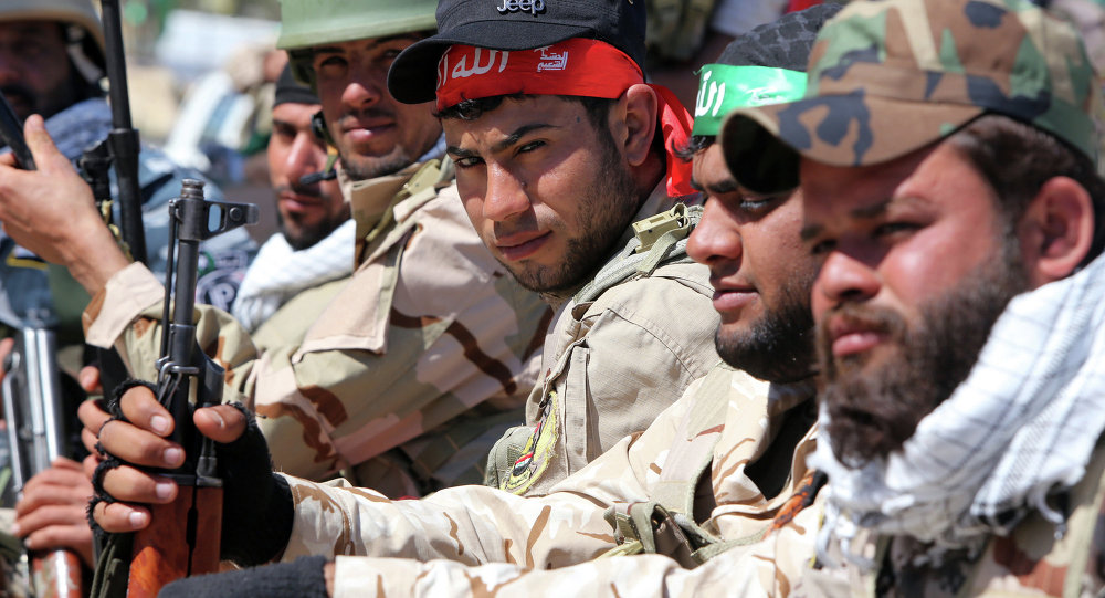 """صورة """"الحشد الشعبي"""" يعزز تواجده على الحدود العراقية السورية"""