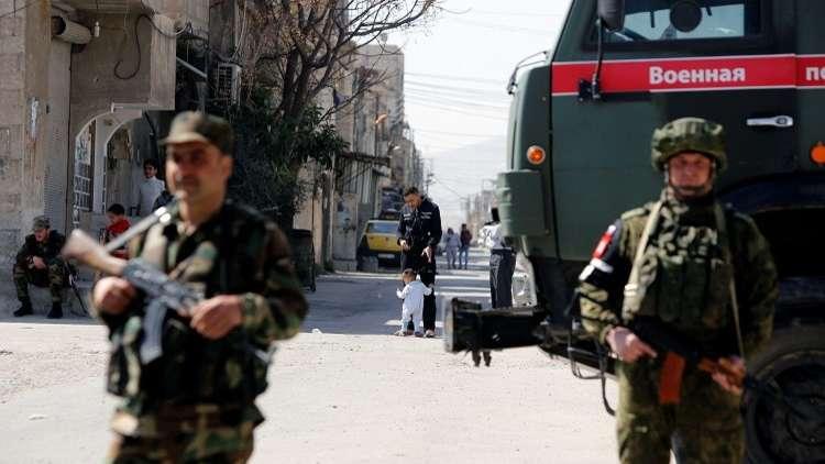 صورة الغوطة الشرقية..روسيا تعتقل ضباطا للأسد