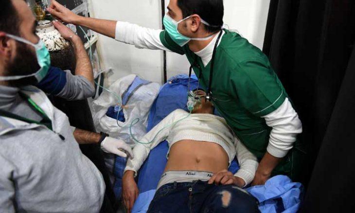 صورة الحريري: إيران وراء الهجوم الكيماوي على حلب