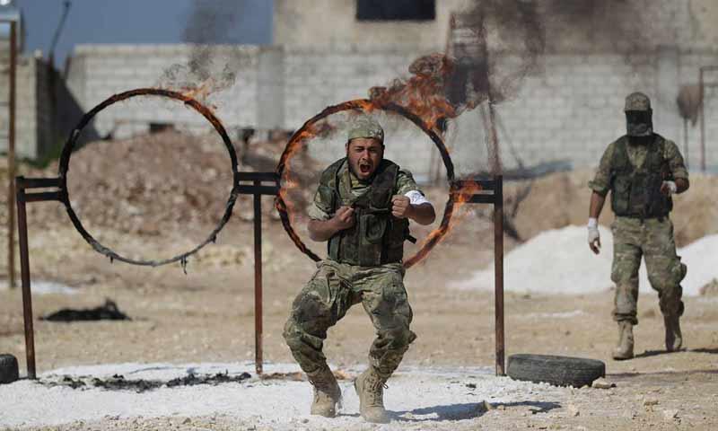 """صورة المنطقة العازلة..النظام يقتل 22 من """"الحر"""""""