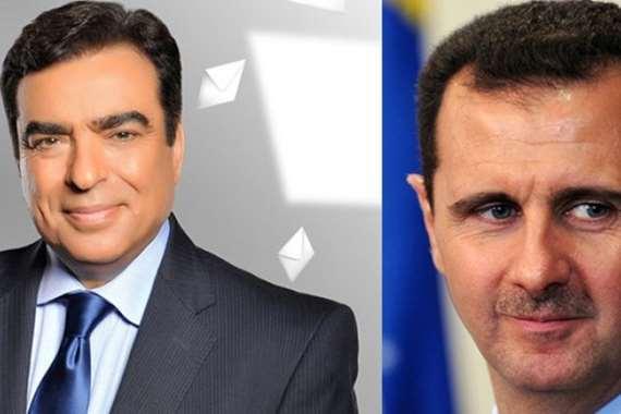صورة جورج قرداحي: بشار الأسد رجل العام!