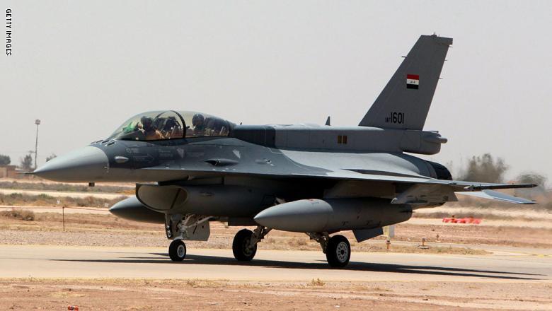 صورة مقاتلات عراقية تضرب تنظيم الدولة بدير الزور