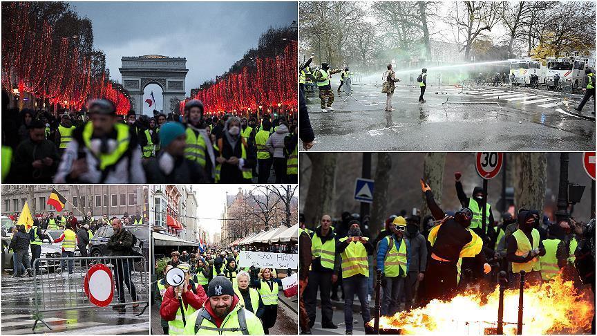 """صورة """"السترات الصفراء"""" تدعو لمظاهرات السبت بـ3 دول أوروبية"""