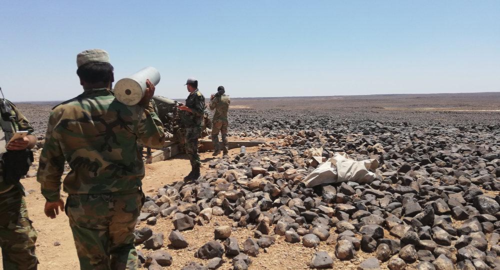 صورة أول مواجهة مسلحة بين الميليشيات الإيرانية والروسية بسوريا