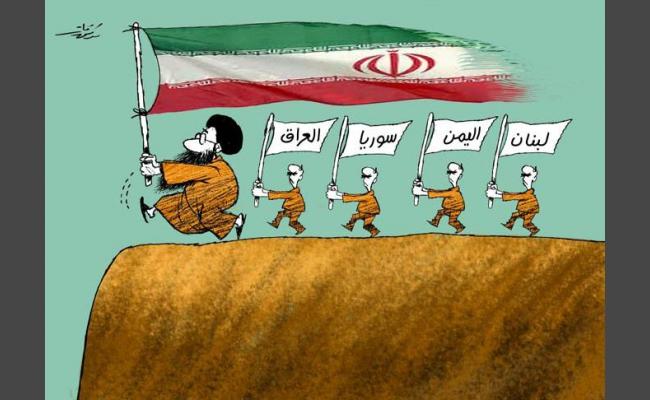 صورة إيران تحتل أراض عربية.. وصورتها مطابقة لإسرائيل!