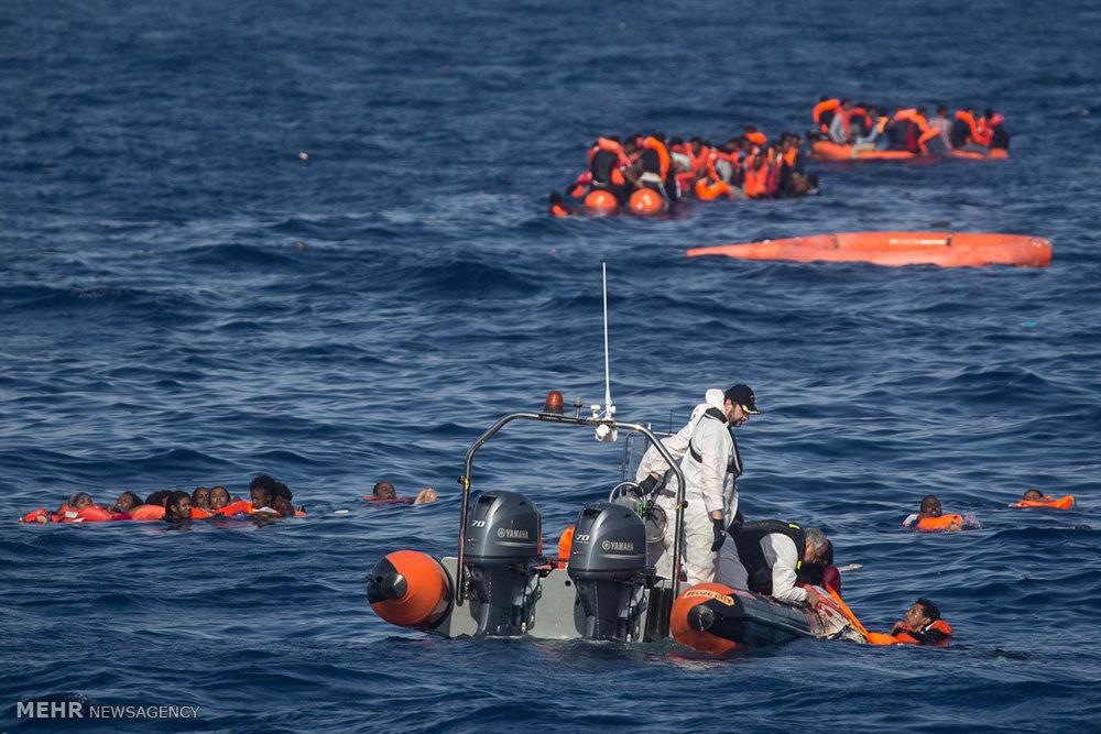 صورة غرق 203 مهاجرين بالبحر المتوسط في 20 يوما