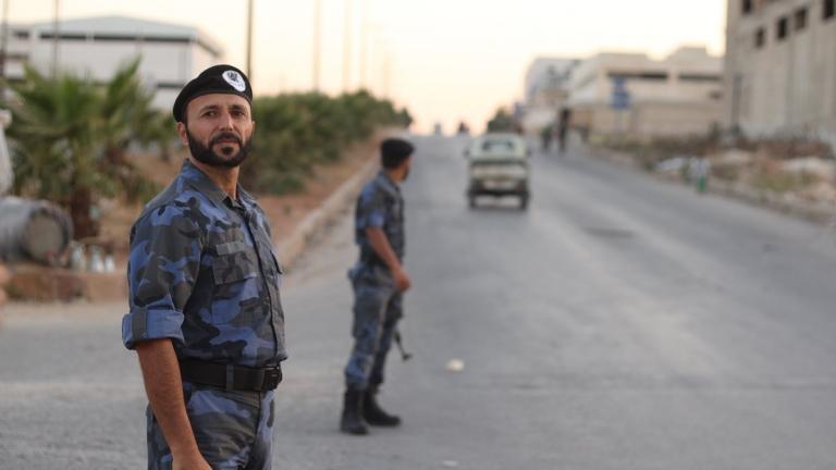 """صورة تحرير الشام تهدد بحل """"الشرطة الحرة"""" مالم تخضع لإدارتها"""