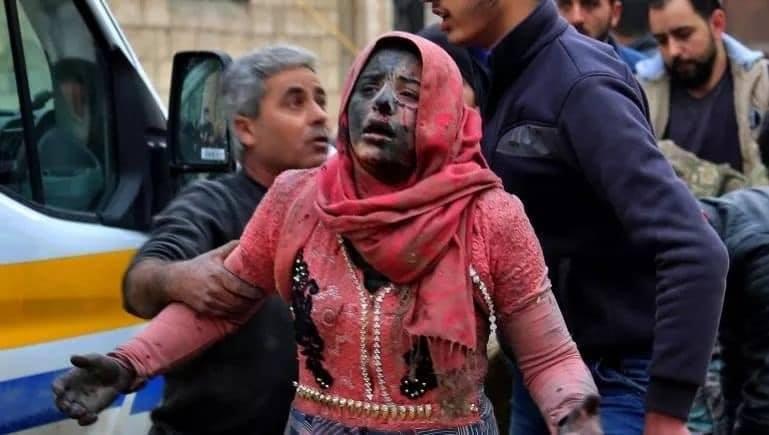 صورة هجمات روسية بالأسلحة المحرمة على إدلب