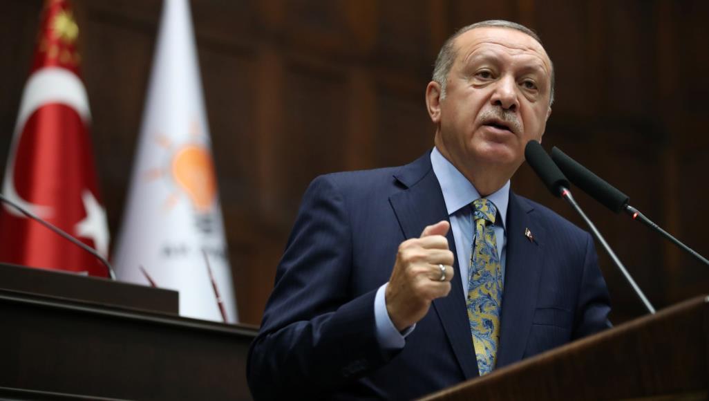 """صورة أردوغان يتحدث عن أصحاب """"الحسابات القذرة"""" في سوريا.. من يقصد؟"""