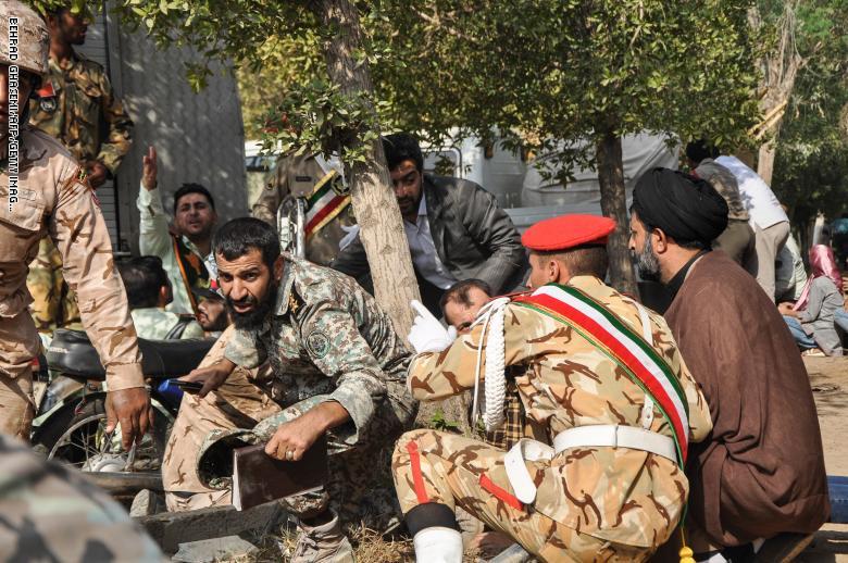 صورة هجوم على قاعدة عسكرية للباسيج في إيران
