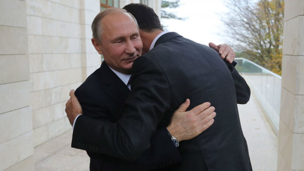 """صورة بوتين: دعوت الأسد لزيارتنا.. لكنه لم يفعل.. وكنت انتظر قدومه """"حبواً"""""""
