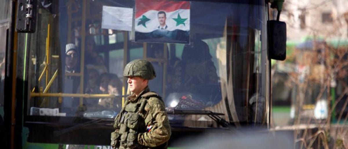 صورة حماة..النظام السوري يهجر 750 عائلة