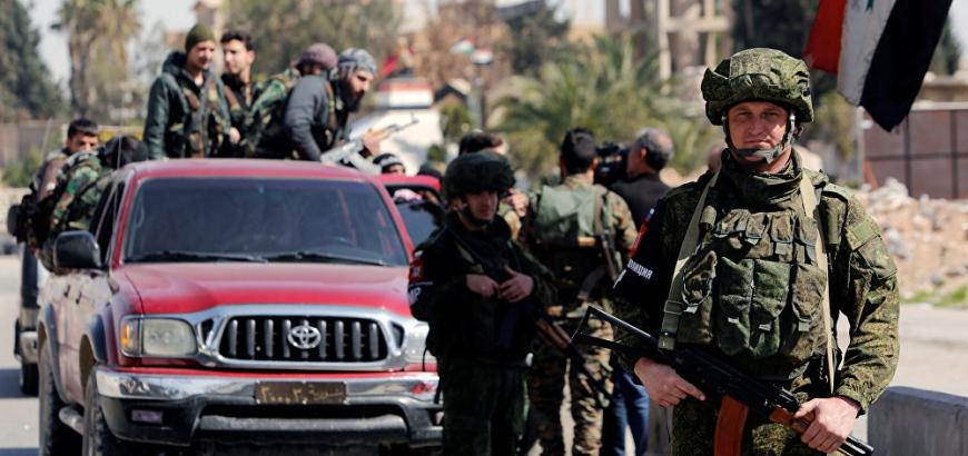 """صورة مقتل 20 جندياً لروسيا والنظام السوري بكمين لـ """"تنظيم الدولة"""""""