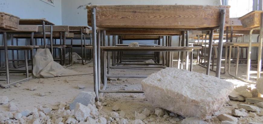 صورة 173 مدرسة تغلق أبوابها في إدلب.. بسبب غارات النظام وروسيا