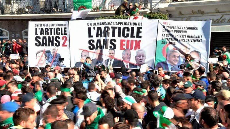"""صورة بـ""""مليونية الرحيل"""".. الجزائريون يردون على بوتفليقة ومن حوله"""
