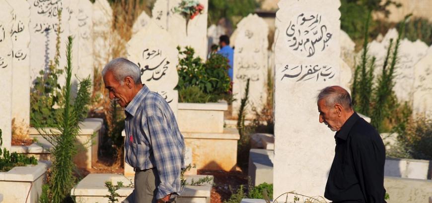 """صورة فرض """"تبرع إجباري"""" بـ 7500 دولار للحصول على قبر في دمشق!"""