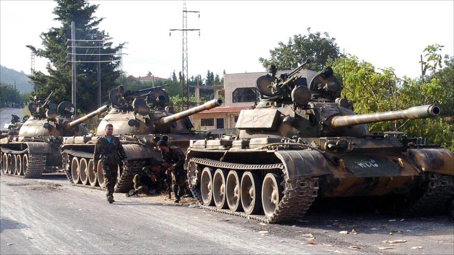 صورة اختفاء رتل للنظام السوري في البادية