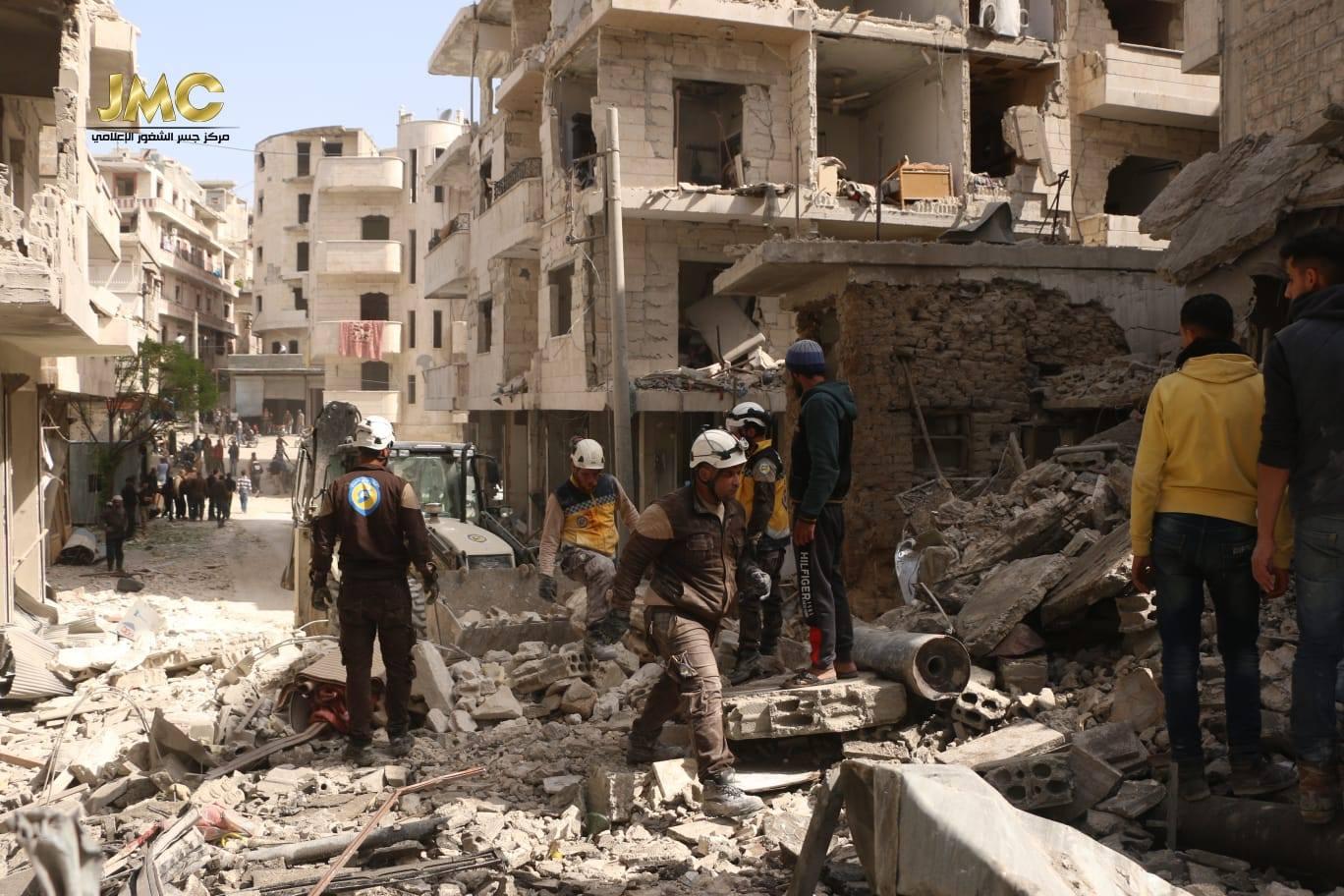 صورة انفجار في إدلب يوقع عشرات الضحايا والجرحى