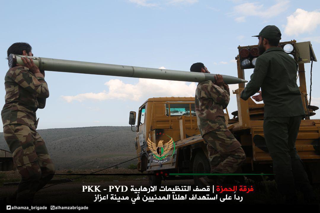 صورة اشتباكات بين الوحدات الكردية والحر شمالي سوريا.. المدفعية التركية تشارك