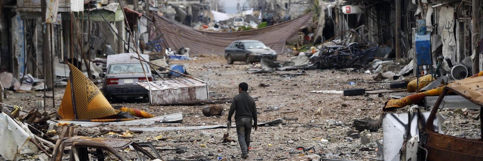 صورة لن نعود حتى لو سقط بشار الأسد