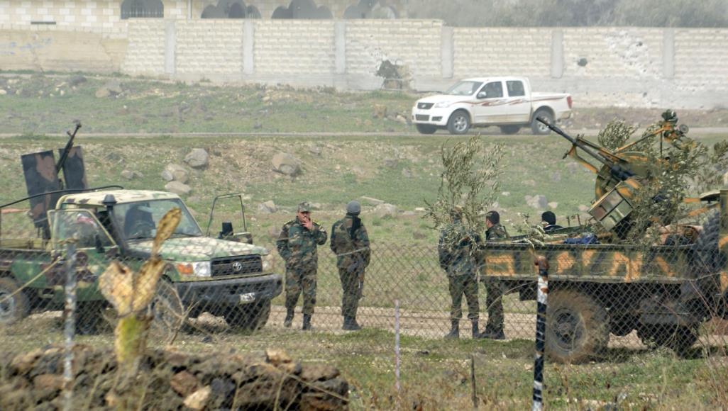 صورة انشقاق 55 عنصراً عن جيش الأسد بدرعا