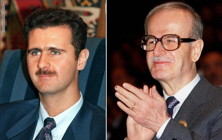 صورة الأسدان الأب والابن.. وجهان لنظام واحد