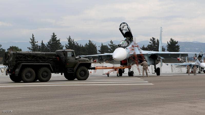 صورة سوريا.. هجوم جوي يستهدف قاعدة حميميم الروسية