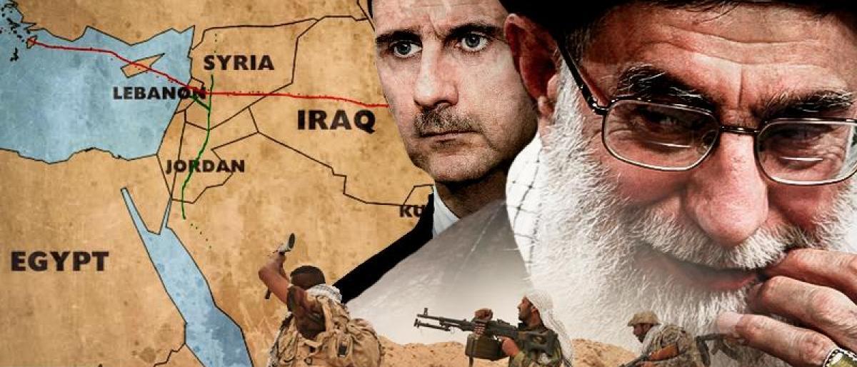 صورة إيران: العراق وسوريا مكملين لنا!