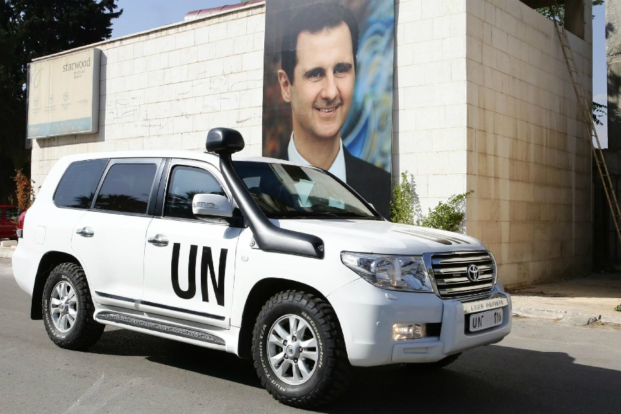 صورة الأمم المتحدة مولت أقوى أذرع الأسد المالية!