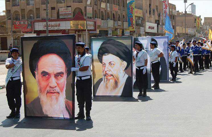صورة عوامل اللادولة التي تستغلها إيران للتوسع في بلاد العرب
