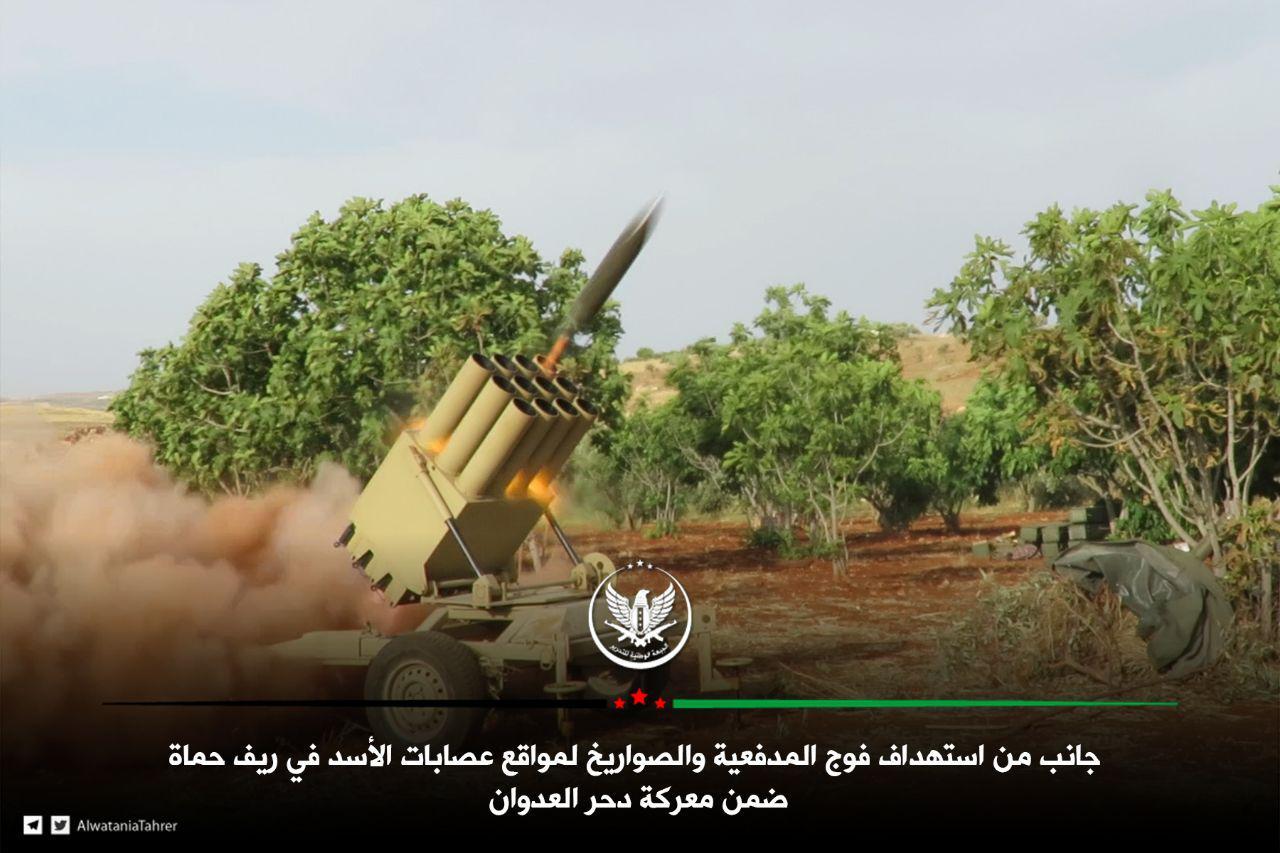 صورة معركة كبرى للمعارضة السورية بريف حماة