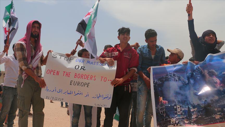 صورة مدنيو إدلب لأوروبا: أوقفوا المجازر أو افتحوا المعابر