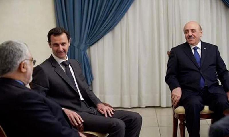 """صورة الأسد يعين """"علي مملوك"""" نائباً أمنياً له"""