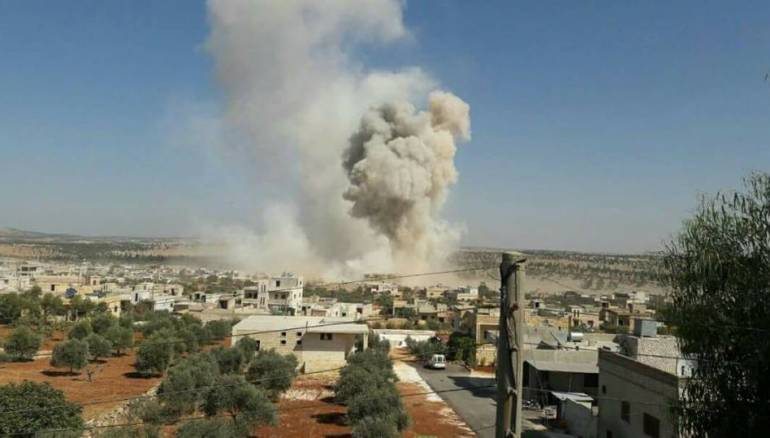 صورة الطائرات الحربية تنعي هدنة إدلب