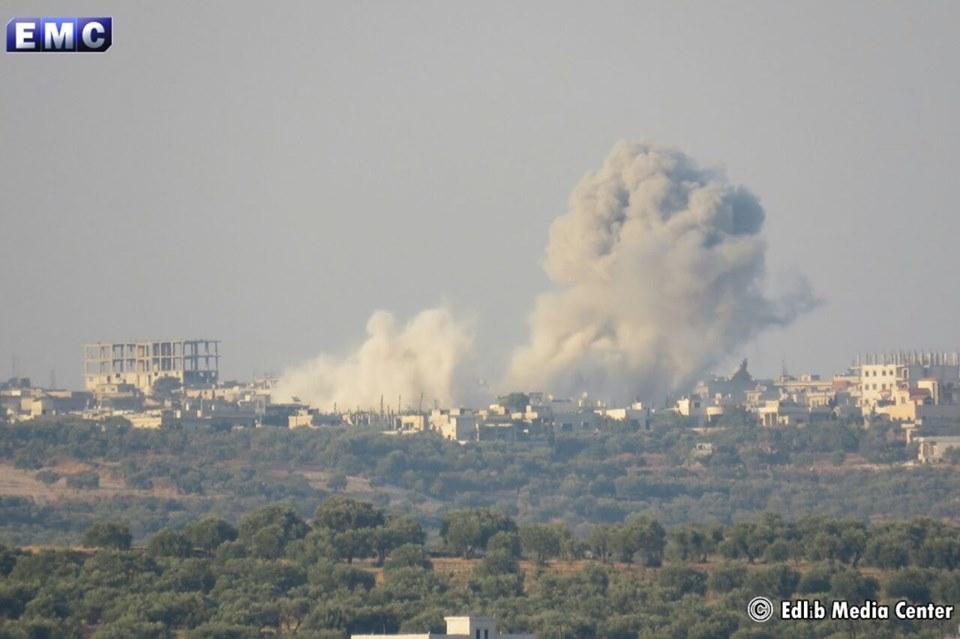 صورة شمال سورية تحت المطرقة الروسية