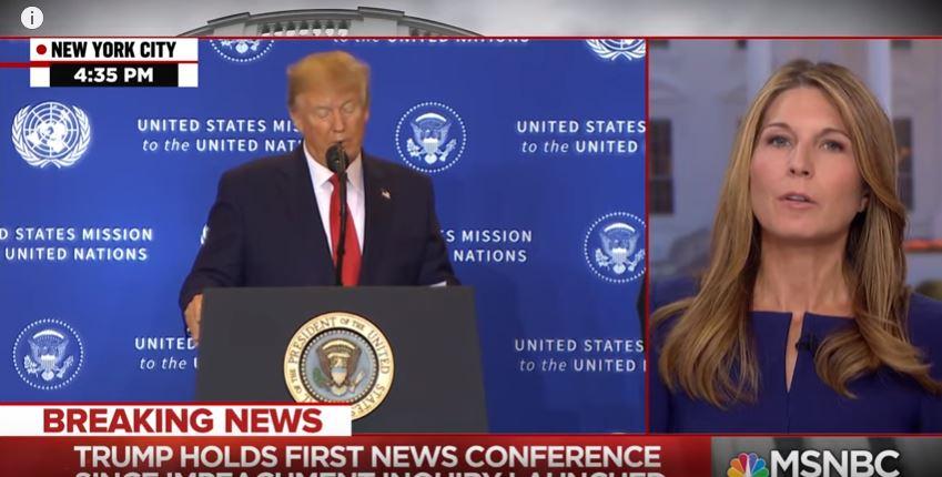 """صورة بالفيديو.. مذيعة أمريكية توقف بث خطاب لـ """"ترامب"""""""