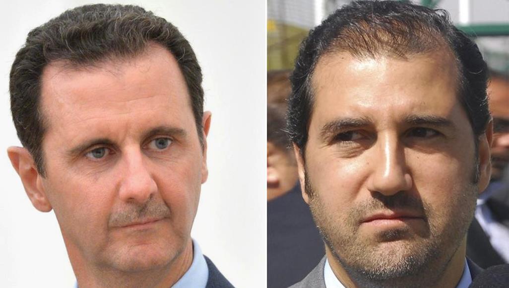 صورة الأسد يصافح مخلوف