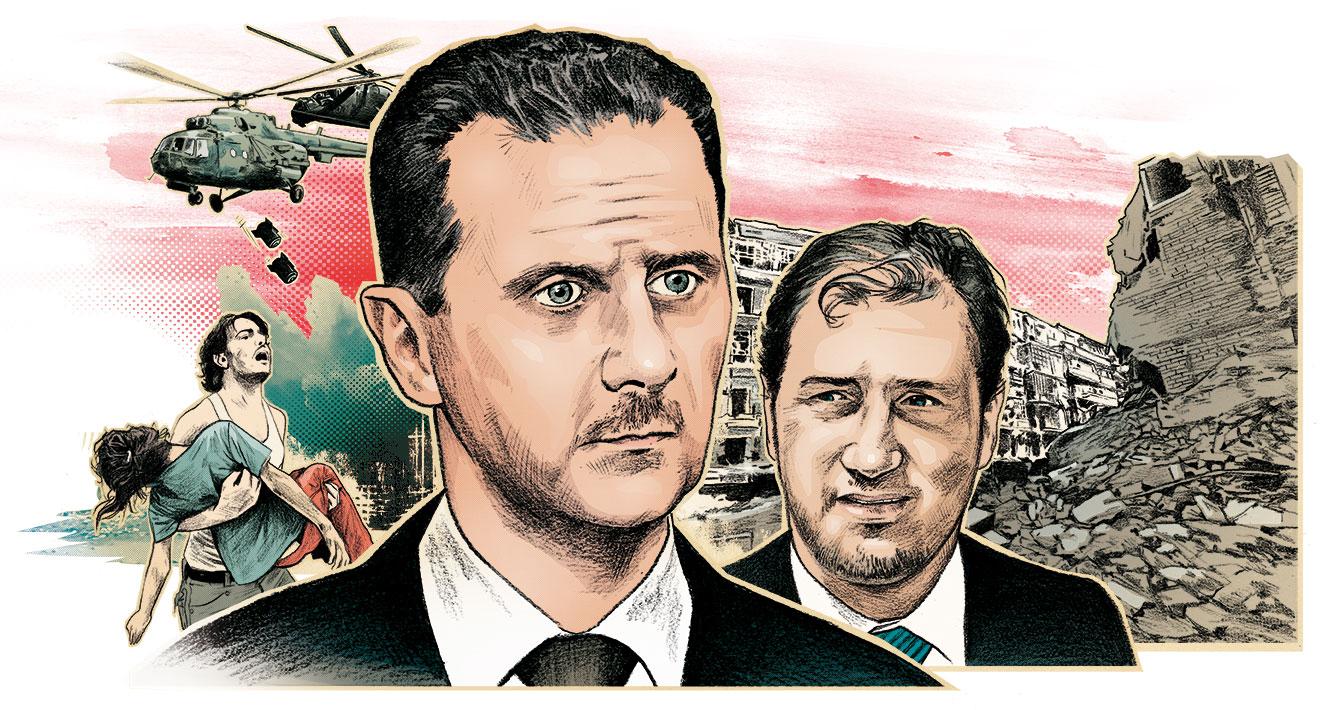"""صورة بشار الأسد يوجه ضربة قاضية لـ """"مخلوف""""- وثيقة"""