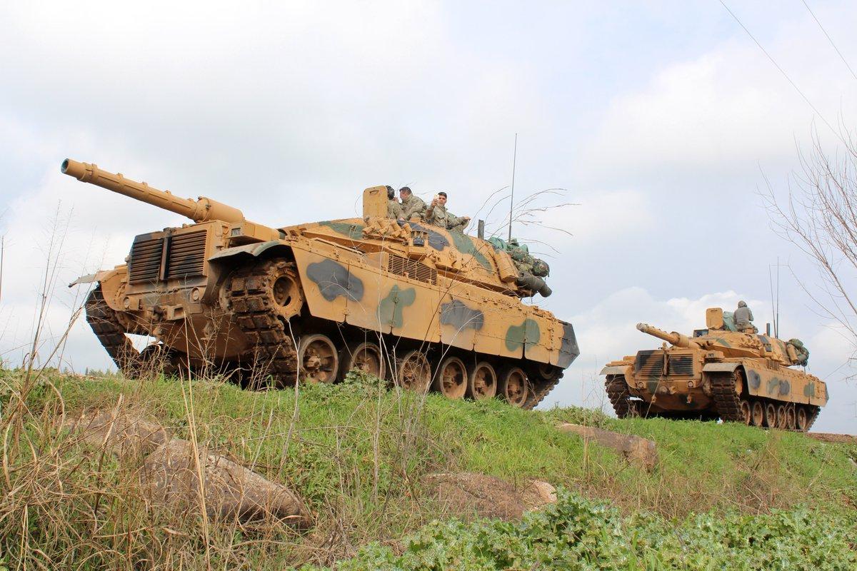 صورة عملية عسكرية تركية كبيرة في إدلب