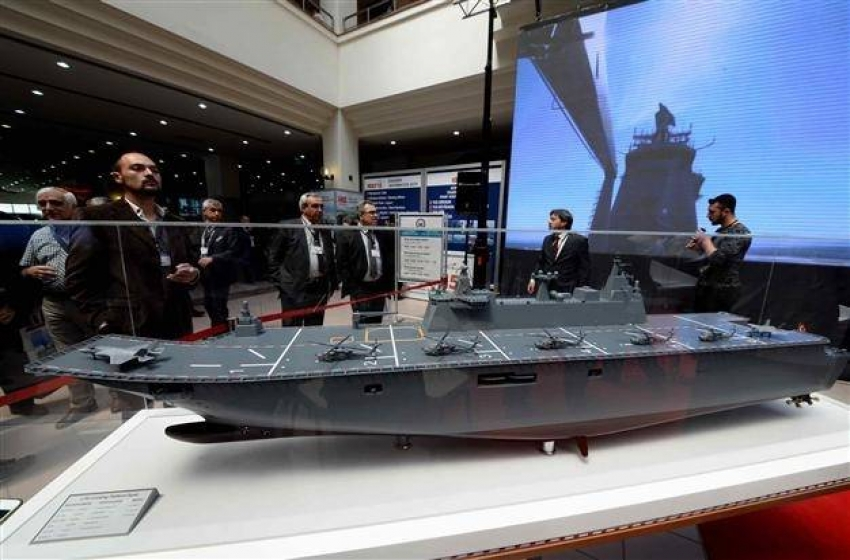 """صورة أردوغان: سفينة """"أناضولو"""" الهجومية البرمائية نزلت إلى البحر"""