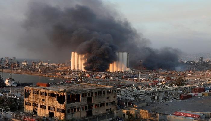 صورة انفجار لبنان.. نصف العاصمة تدمر