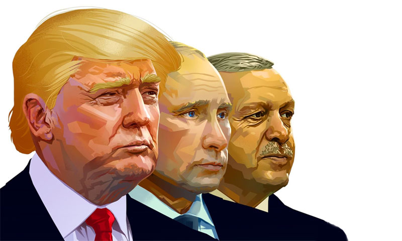 """صورة هل اتفق بوتين وترامب فعلا على طرد """"أردوغان"""" من ليبيا؟"""