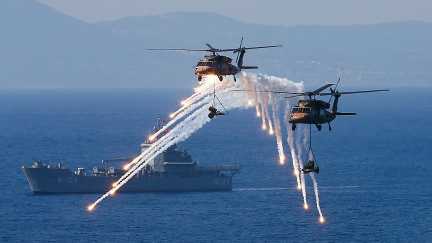 صورة مناورات تركية بالرصاص الحي شرقي المتوسط.. والناتو قلق
