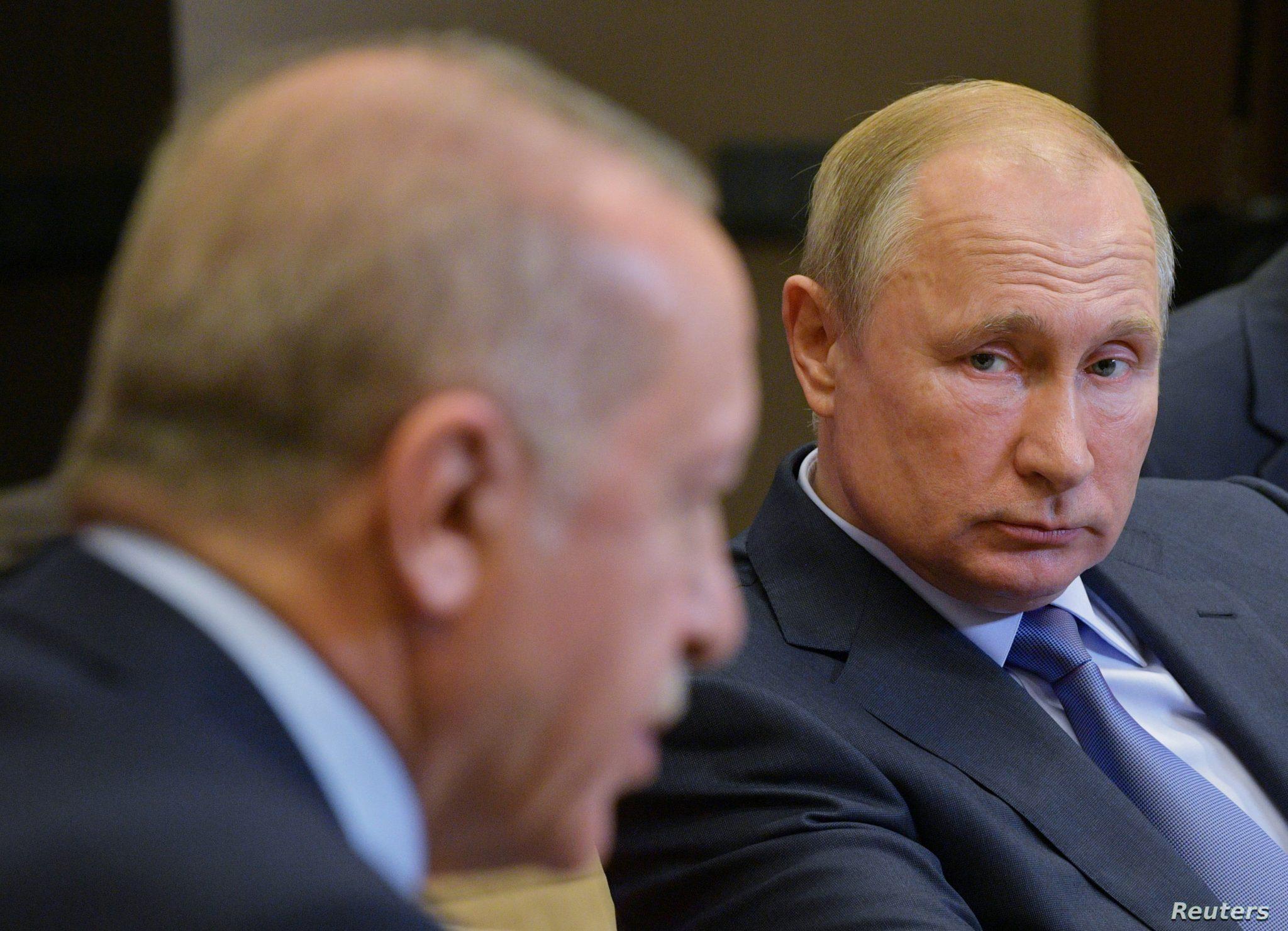 صورة بوتين يتحدث عن أردوغان والإمبراطورية العثمانية