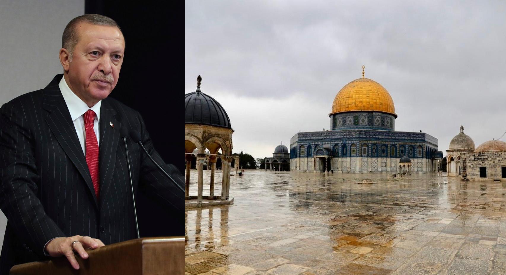 صورة القدس شرف الأمة الإسلامية سندافع عنها بأرواحنا.. أردوغان يطلق تصريحات نـ.ـارية