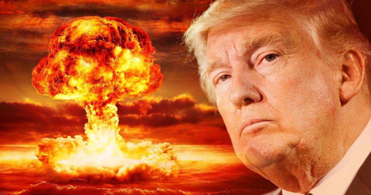صورة يرفع العصا النووية.. هل يفعلها ترامب في اللحظات الحاسمة؟